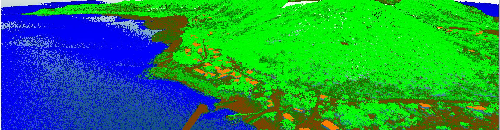 LiDAR point cloud building clutter analysed during microwave link planning