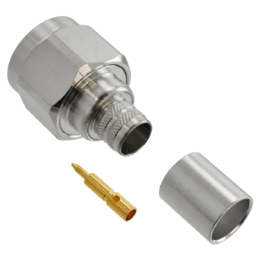 N Male plug for LMR400 coaxial cables