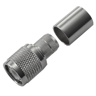 TNC Male plug crimp connector for LMR400 series cables