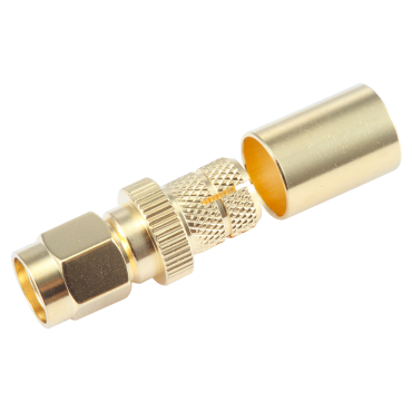 SMA Male crimp connector for LMR400 coaxial cable