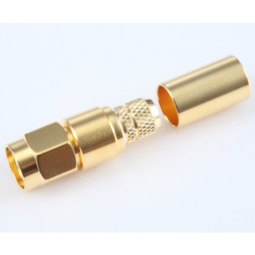 SMA Male crimp connector for LMR240 coaxial cable