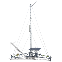 Cel-Pod cell-on-wheels temporary tripod tower solar mobile coverage