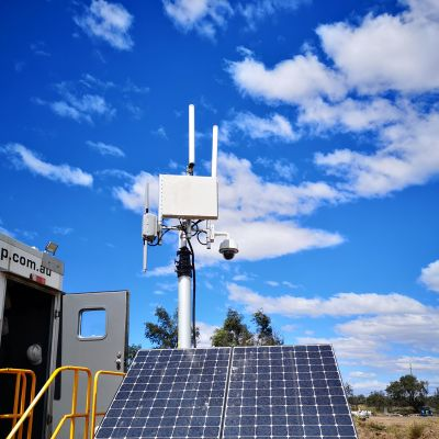 Cambium Medusa access point installed on Solar Comms Trailer