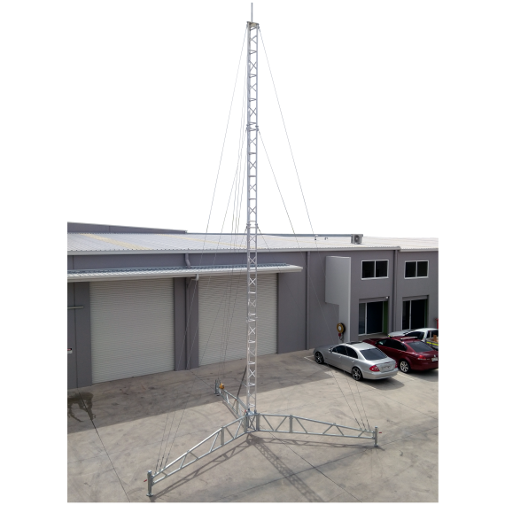 AL340 14m temporary tower, portable tripod lattice tower