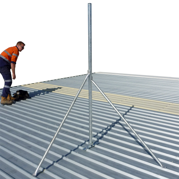 Galvanised roof mast, 48 mm pole